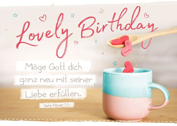 Postkarte - Lovely Birthday