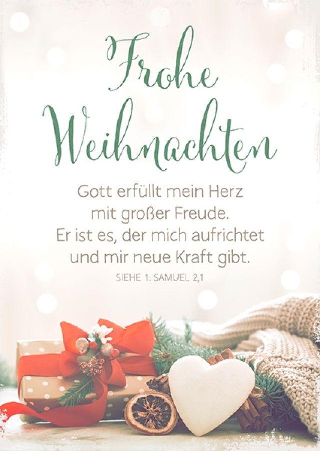 Postkarte - Frohe Weihnachten - Gott erfüllt mein Herz